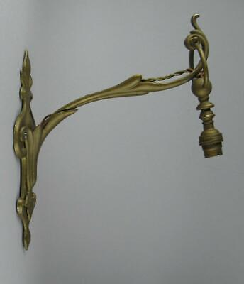 Antique Art Nouveau Benson Style Wall Mounted Gimbal Lamp Light