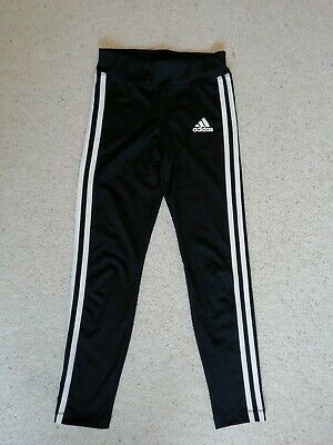 Girls adidas black Climalite sports leggings 9-10 yrs perfect condition