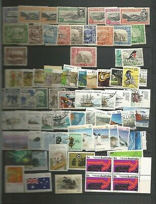 LARGE QV-QEII COMMONWEALTH MINT & USED STAMP COLLECTION ON 16 STOCK PAGES (12 sc