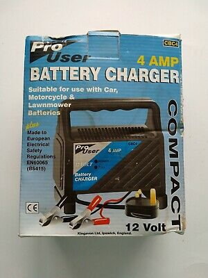 Pro User - 12 Volt - 4 Amp Compact Car Battery Charger