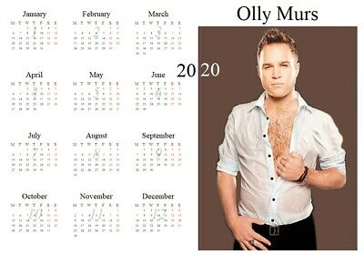 Olly Murs Calendar 2020 A4 PERSONALISED FOR FREE