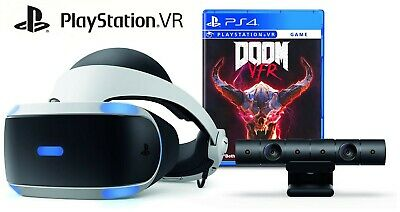 Sony PlayStation VR (PS VR) Headset Camera, Accessories & Doom VR Bundle Edition