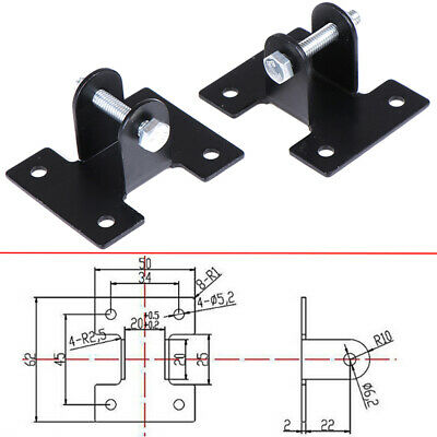 2pcs Mounting Brackets Link for DC12V/24V Linear Actuator Motor Heavy Duty L rs