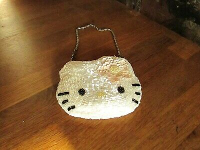 Hello Kitty Beaded Purse With Chain