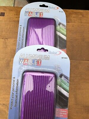 Aluminium Bank Card Box In Purple They Will Stop Scamers