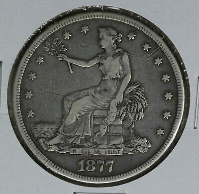 NIce 1877-S Trade Dollar!  Very Fine Details Condition!!  Light scratches
