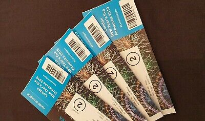 4x London New Years Eve Firework 2019 Tickets !BLUE AREA! Blue Entrance 2