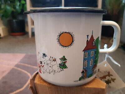 Genuine Muurla Moomin Enamel Ware Delightful Moomin Valley Milk Jug in White