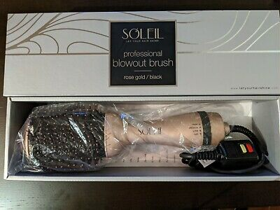 Soleil Professional Blowout Brush in Rose Gold / Black MSRP: $399 Let Your Hair