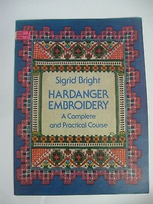 Hardanger embroidery Complete Practical Course S Bright Blocks Border Canvas