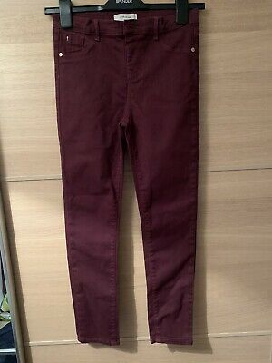 girls Burgundy river island trousers Like Jeans with aged 10 years