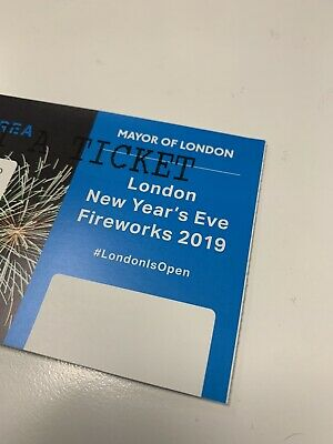 X2 London New Year's Eve December 2019-20 Fireworks Tickets | Blue Area