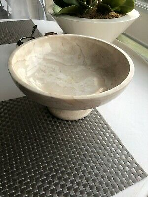 LAURA ASHLEY Cream Footed Marble Bowl