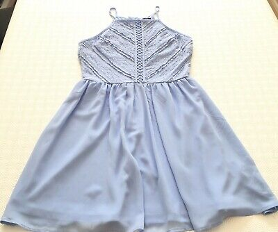 New Look 915 Hyacinth blue dress with lace - Size 14 years old