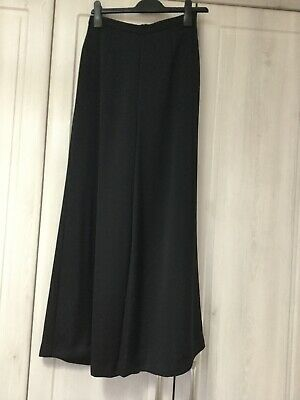 Bruce Oldfield Black Evening Prom Cocktail Wide Leg Trousers Size 8