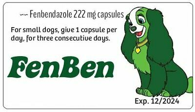 LIMITED QUANTITY ~~ Fenben for Dogs and Cats ~~ 96 of the 222 mg capsules