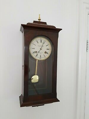 Vintage style Knight and Gibbins wall clock with Pendulum