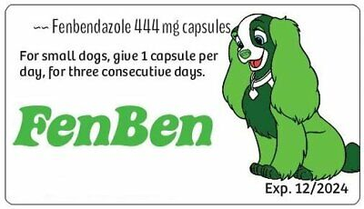 SUPER SALE ~~ Fenben for Dogs and Cats ~~ 24 of the 444 mg capsules