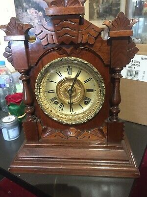 Ansonia Oak Cased 1878 Mantle Clock
