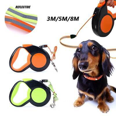 3/5/8M Dog Leash Automatic Retractable Walking Collar Traction Rope Small Pet