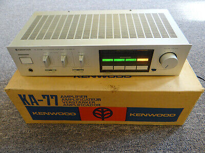 Kenwood Ka-77 Dc Stereo Integrated Amplifier In Original Box Ex Working Cond!