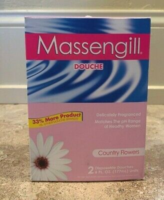 Massengill Disposable Douche With Natural Ingredients Includes 2 - 6 Oz Each New
