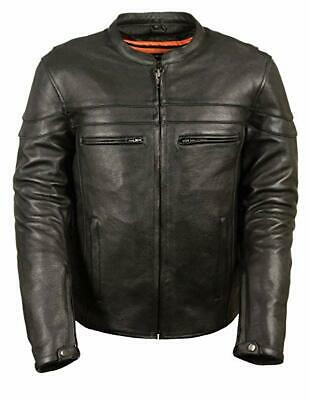 Milwaukee Leather Men's Sporty Scooter Crossover Motorcyle Jacket Size 3XL