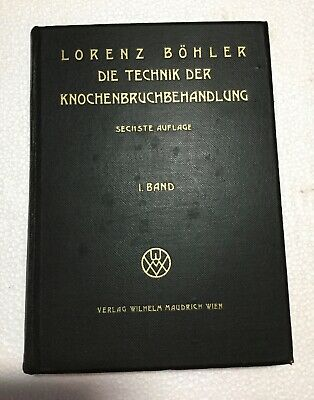 Vtg 1938 HB GERMAN MEDICAL Book Bone Fracture Treatment Technique GRAPHIC