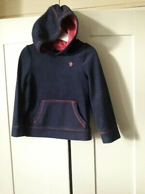 Long Sleeved Blue Hooded Top Age 4-5 Years Infant Girls from George USED