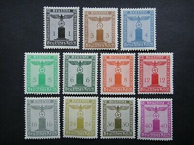 Germany Nazi 1938 FRANCHISE Stamps MINT Party Emblem Swastika Eagle Third Reich