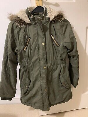 Parker Jacket Girls Green Age 11-12 years