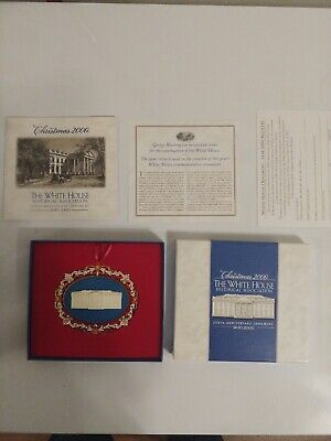 The White House Historical Association 2000 Christmas Ornament Complete in Box!