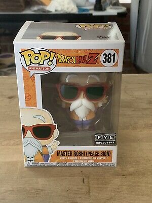 Funko Pop! Dragon Ball Z Master Roshi Peace Sign Fye Exclusive IN HAND Protector