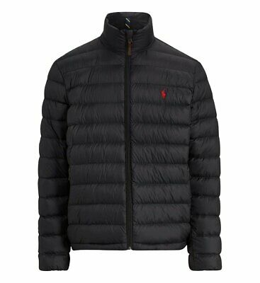 Polo Ralph Lauren Down Jacket Padded Quilted Black 710716331001 Size Medium Bnwt