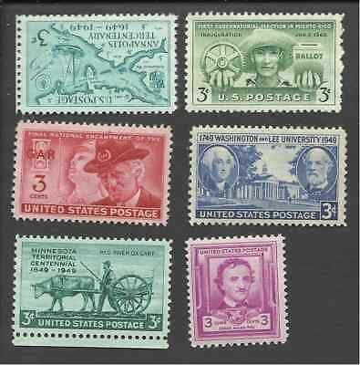 Us 1949 Complete Commemorative Year Set 981 982 983 984 985 986 Mnh