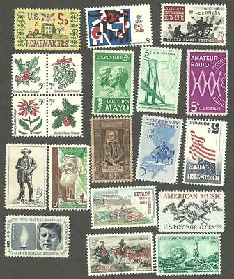 1964 Us Mint Complete C0Mmemorative Year Set 20 Stamps Mnh