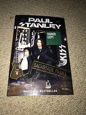 Paul Stanley Backstage pass Signed Copy NEW Book KISS