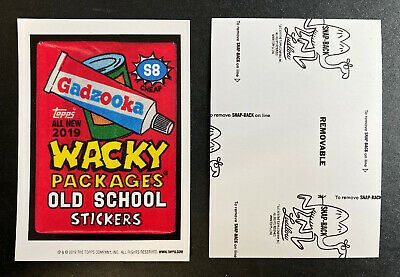 NEW 2019 Topps Wacky Packages OLD SCHOOL 8th SERIES 8 Complete BLACK LUDLOW Set