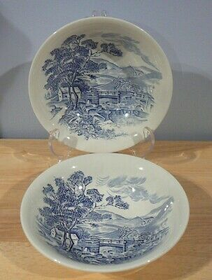 Wedgwood Countryside Blue Soup Cereal Bowls