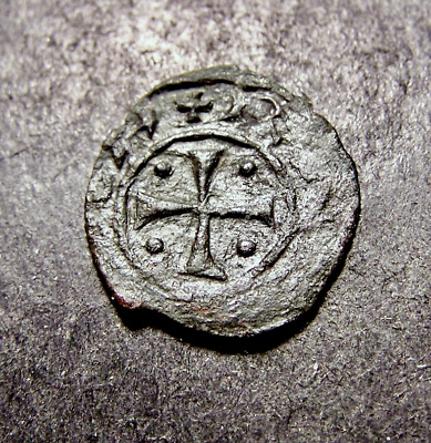 Medieval Coin, Christian Crosses, Iron Patee Templar, Crusades, Old France?
