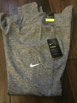 Nike Plus Size 1X Dri Fit Power Victory Tight Fit Mid Rise Full Length Gray NWT