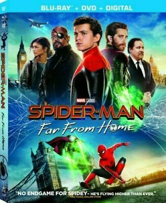 Spider-Man Far From Home, 2019 (Blu-Ray + DVD + Digital) New Sealed w/ Slipcover