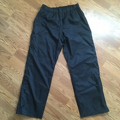 Columbia waterproof shell Men's rain pants XL black pull on packable mesh