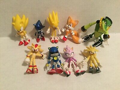 "Lot of 9 SEGA JAZWARES 3"" SONIC THE HEDGEHOG Toy Action Figures Blaze Vector"