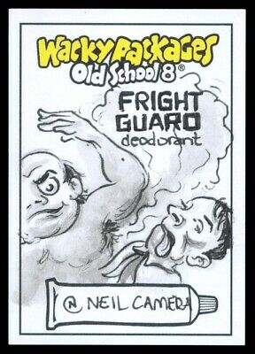 2019 Topps Wacky Packages Old School 8 Fright Guard Neil Camera Sketch 1/1