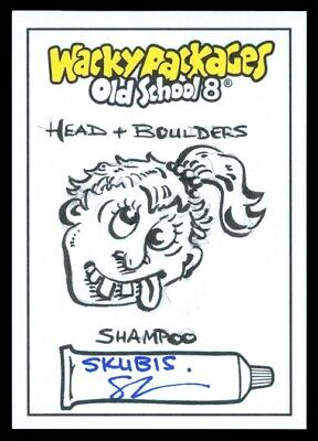 2019 Topps Wacky Packages Old School 8 Head & Boulders Skubis Sketch 1/1