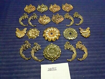 vintage 20 pieces gold white metal ormolu