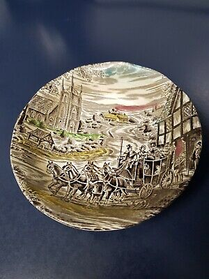 Vintage ENOCH WEDGEWOOD TUNSTALL (LTD) Dickens Coaching Days. Made in England.