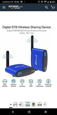 PAKITE Wireless AV Sender,PAT-535 5.8GHz 24 Channel 200M with IR input Wireless