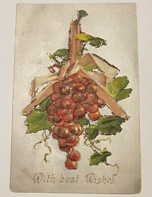 Antique 'With Best Wishes' Postcard